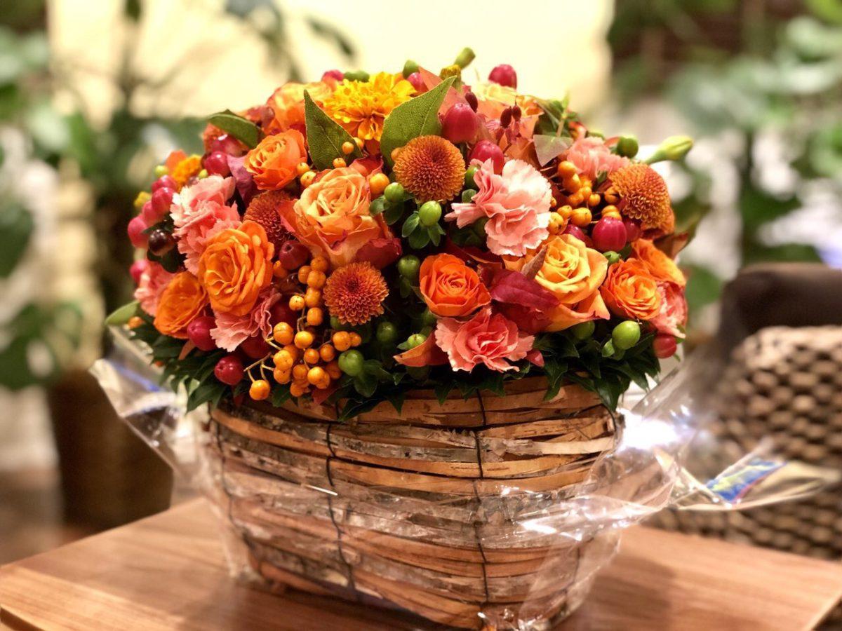 頂いたきれいな花束