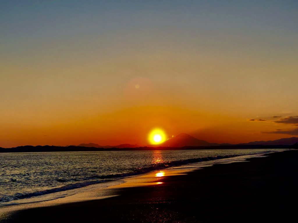 富津岬の夕日